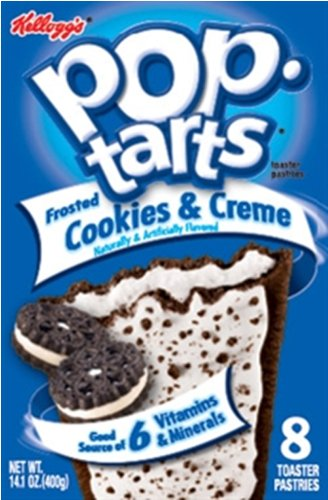 Kelloggs Pop Tarts Cookies and Cream 400g (Pack of 6) from Kellogg's