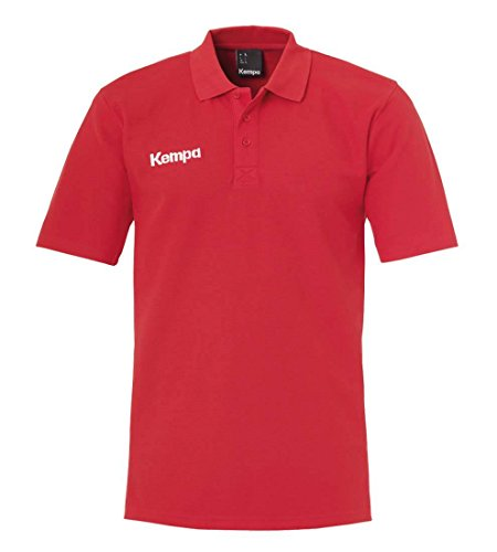 Kempa Boys Classic Polo Shirt, Men, CLASSIC SHIRT, red, 128 EU from Kempa
