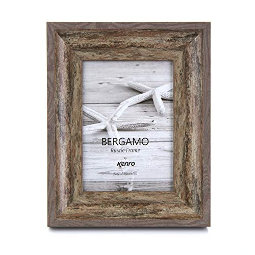 af24ee7a416 Kenro Rustic Brown Photo Frame 8x10 inch 20x25cm with White Mount Vintage  Look Portrait or Landscape. found at Amazon Marketplace