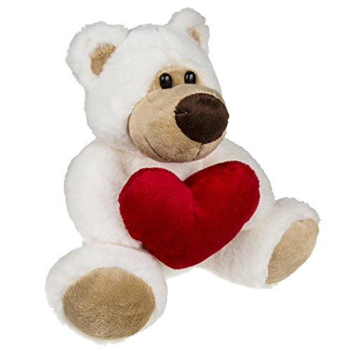 Number 1 Selling 15 cm Plush Soft Toy Teddy Bear With Red Heart - A Romantic Birthday & Christmas Gift Idea For Women - One Supplied from Kenzies Gifts