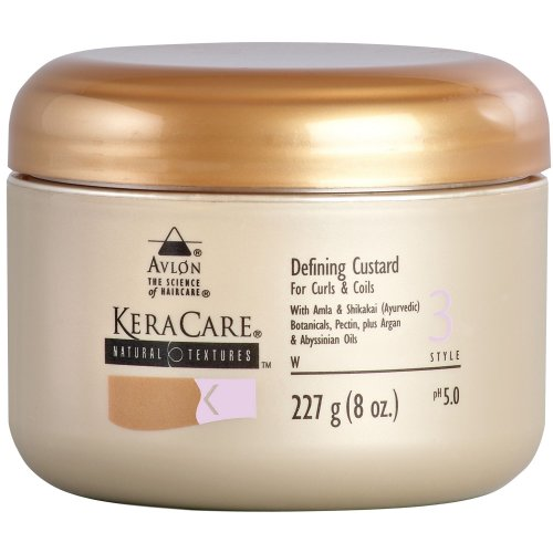 Keracare Natural Textures Defining Custard 8oz for curls & coils from KeraCare