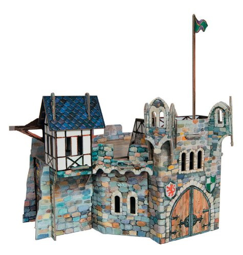 Keranova 220 Clever Paper Medieval Town Round Tower 3D Puzzle, 21 x 16 x 14 cm, Multi Color from Keranova