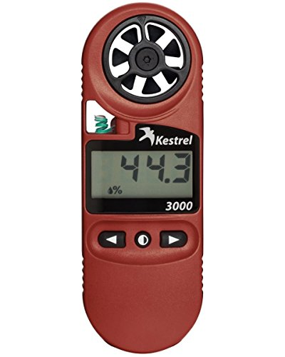 Kestrel 3000 Pocket Weather Meter / Heat Stress Monitor, Red from Kestrel
