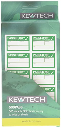 Kewtech 500PASS Appliance Pass Labels, 500 per roll from Kewtech