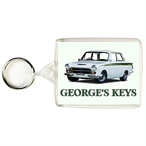 Key Expressions Personalised LOTUS CORTINA (FORD CORTINA LOTUS) MARK 1 Classic Car Keyring / Bag Tag - An Ideal Gift for a Car Enthusiast from Key Expressions