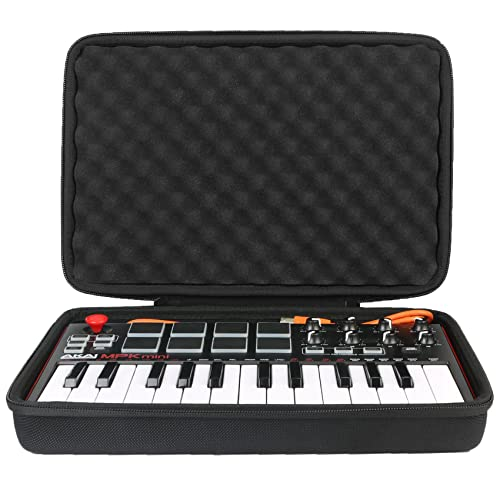 Khanka EVA Hard Case Carrying Travel Bag For AKAI Professional MPK Mini MKII Portable USB MIDI Keyboard. (Black/White) from Khanka