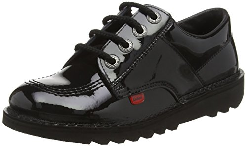 Kickers Unisex Kick Lo Youth Shoes, Black/Black, 5 UK from Kickers