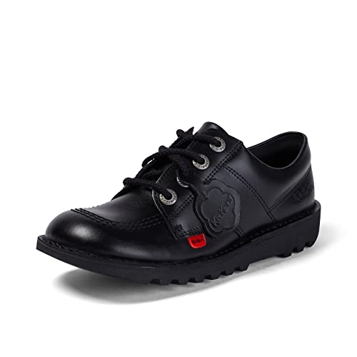 Kickers Unisex Kick Lo Youth Shoes, Black (BLACK/BLACK), 5 UK (38 EU) from Kickers