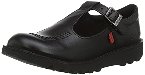 Kickers Girls' Kick T J Core Classic School Shoes, Black (Black), 1 UK 33 EU from Kickers
