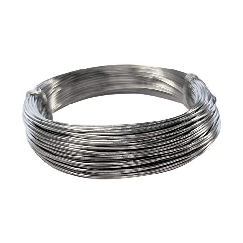Kids B Crafty 1mm Galvanised Wire Craft 30 Metres for Florist Modelling Garden Vine Plants Support Mod ROC Crafts from Kids B Crafty