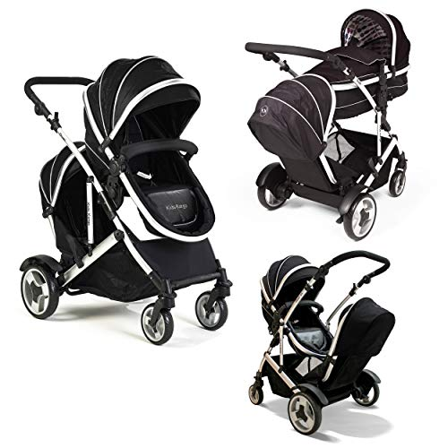 Duel DS Double Tandem Pushchair twin pushchair (No accessories, Black) from Kids Kargo