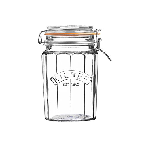 Kilner 0.95L Facetted Clip Top Jar, 0.95 Litre from Kilner