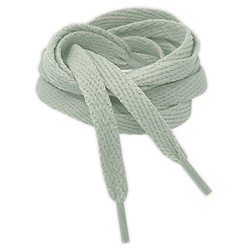 b19cced85 Kilter Flat Trainer Shoelaces - Light Grey - 8mm X 100cm (1 Pair) from
