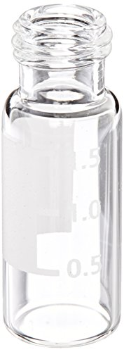 Kimble 331232SW Borosilicate Glass Clear Chromatography Autosampler Vial without Closures, 9-425 Screw Thread Finish and Marking Spot (Case of 2000) from Kimble