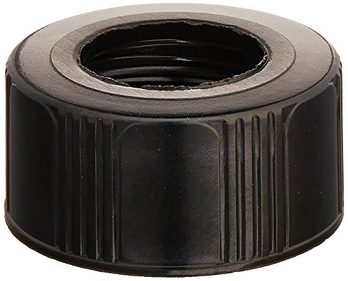 Kimble 73804-20400 Phenolic Open Top Screw Thread Cap without Liner, Black, 20-400 GPI Thread Finish (Case of 144) from Kimble
