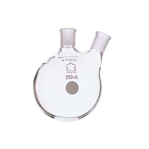 Kimble Chase KIMAX 605020-2924 Borosilicate Glass Two-Neck Round Bottom Distilling Flask, Side Neck Angled, 5000 ml Capacity from Kimble