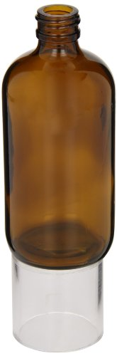 Kimble Type III Soda-Lime Glass Amber Round Narrow Mouth Bottle without Cap, Capacity 2oz (Case of 288) from Kimble
