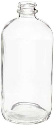 Kimble Type III Soda-Lime Glass Clear Narrow Mouth Boston Round Bottle without Cap, Capacity 1oz (Case of 144) from Kimble