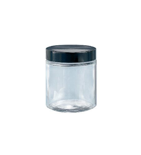 Kimble Type III Soda-Lime Glass Clear Straight-Sided Wide Mouth Jars with PTFE-Faced LDPE Foam Cap Liner, Capacity 16oz (Case of 12) from Kimble