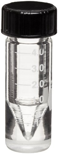 Kimble 60702-1 Borosilicate Glass 1mL Accuform Screw Thread Graduated Micro Vial, with Solid Top Closure and PTFE-Faced White Rubber Liner (Case of 12) from Kimble