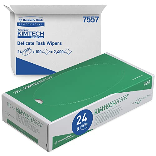 KIMTECH SCIENCE PRECISION WIPES, 24 cartons x 100 white 2 ply sheets = 2400 sheets. from Kimtech Science