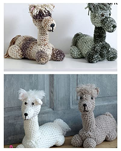 King Cole 9081 Crochet Pattern Andre the Alpaca Toy / Doorstop in King Cole Big Value Super Chunky from King Cole