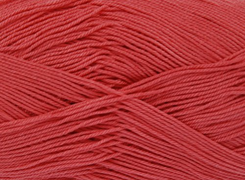 King Cole Giza Cotton 4 Ply 50g Knitting Crochet Yarn (Rosehip 2197) from King Cole