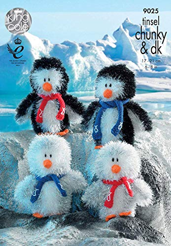 King Cole Penguin Family Toys Knitting Pattern 9025 Chunky from King Cole