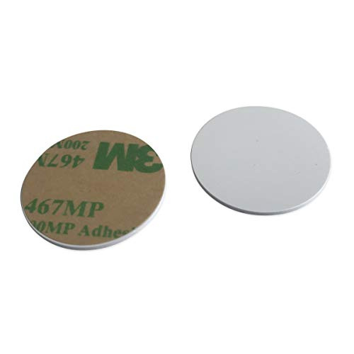 100pcs Ф25mm 125KHz sticker coin EM4100 RFID Induction Round tag card Waterproof from KingGo