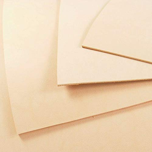 Veg Tan Leather 3mm - Veg Tanned Tooling Leather AAA-Grade Hide Avail In Various Sizes (6 inch x 8 inch) from Kingdom Leather