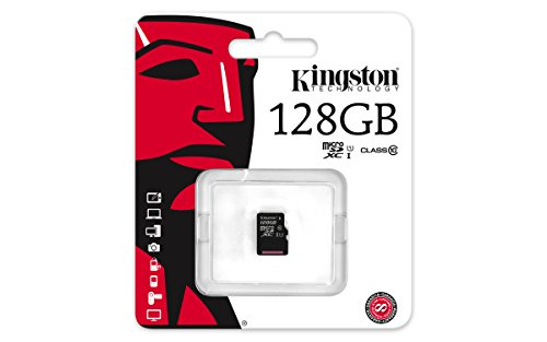 Kingston SDCX10/128GBSP 128 GB Class 10 Micro SDXC Memory Card without Full Size Adapter from Kingston