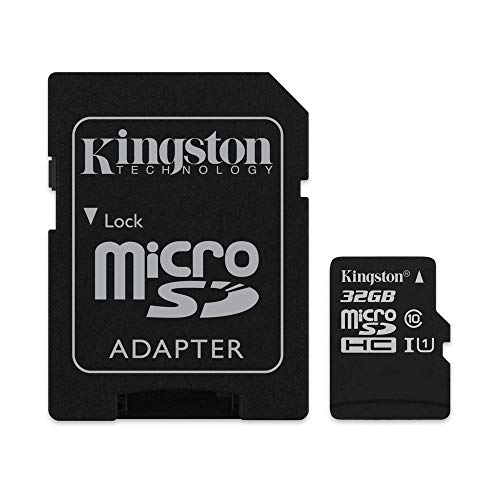 Kingston SDCS 32 GB Micro SD Canvas Class 10 UHS-I Memory Card from Kingston