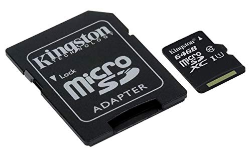 Kingston SDCS/64GB Canvas Select 64GB microSD Card With SD Adapter Class 10 UHS-I U3 Speeds from Kingston