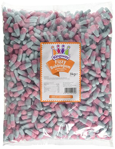 Kingsway Fizzy Bubble Gum Bottles (3kg bag) from Kingsway