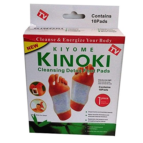 Kinoki Cleansing Detox Foot Pads Patch Foot Mask Scrub Sticker Hallux Valgus Spa Ion Tourmaline Massage Energizer (10pcs in a Box) from Unknown