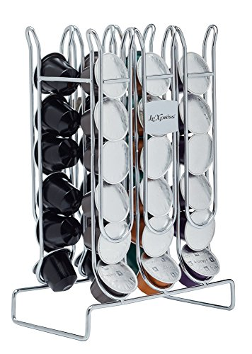 "KitchenCraft Le'Xpress Carbon Steel Nespresso Coffee Pod Holder, 17 x 9.5 x 24.5 cm (6.5"" x 3.5"" x 9.5"") - For 36 Capsules from KitchenCraft"