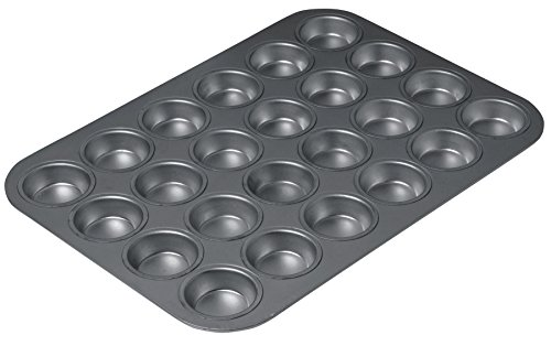 "KitchenCraft Chicago Metallic Professional Non-Stick 24-Cup Mini Muffin Tin, 40 x 28 cm (15.5"" x 11"") from KitchenCraft"