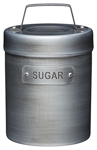 KitchenCraft Industrial Kitchen Vintage-Style Metal Sugar Container, 1 L (1.75 pts) from KitchenCraft