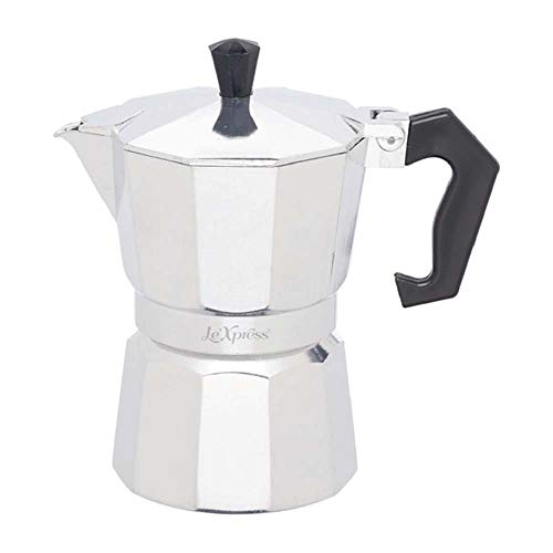 Kitchen Craft Le Xpress Espresso Maker for 3 Cups, Aluminium, Grey, 9 x 12 x 16 cm from KitchenCraft