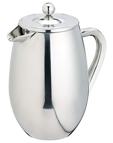 KitchenCraft Le'Xpress Cafetiere for 8 Cups, Stainless Steel, Silver, 1 Litre from KitchenCraft