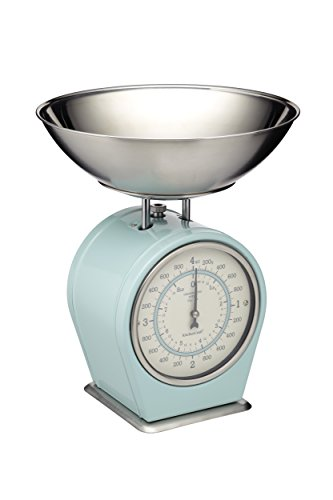 KitchenCraft Living Nostalgia Mechanical Kitchen Scales, 4 kg (8 lbs) - Vintage Blue from KitchenCraft