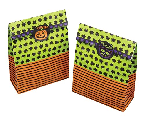 KitchenCraft Spookily Does It Halloween Treat Bags And Labels, Pack of 8 from KitchenCraft