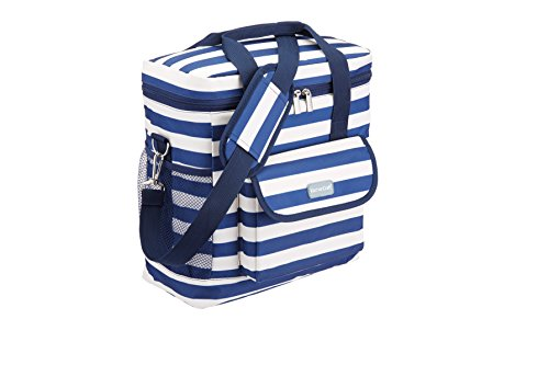 KitchenCraft We Love Summer Nautical-Striped Medium Cool Bag, 12 L (2.5 gal) - Navy Blue/White from KitchenCraft