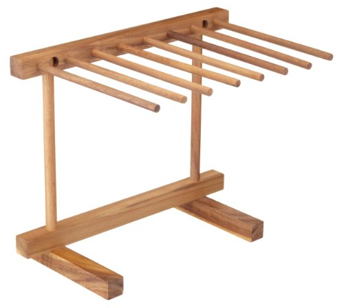 KitchenCraft World of Flavours Collapsible Wooden Pasta Drying Rack, Brown, 36 x 30 x 23.5 cm from KitchenCraft