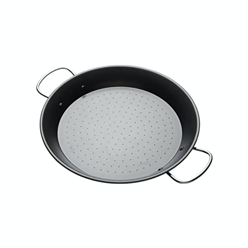 KitchenCraft World of Flavours Paella Pan, Non Stick, Carbon Steel, 32 cm from KitchenCraft