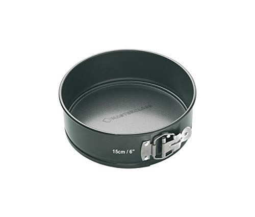"MasterClass Non-Stick Quick-Release Springform Cake Tin with Loose Base, 15 cm (6"") from KitchenCraft"