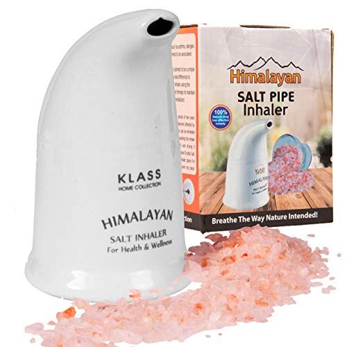 Original Himalayan Salt Pipe Ceramic Inhaler filled with 100% Pure Himalayan salt - with hygenic dust cap by Klass Home Collection® from Klass Home Collection