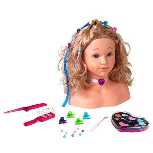 Theo Klein 5240 Princess Coralie Hairstyling, Make-Up Head, Toy, Multi-Colored from Theo Klein