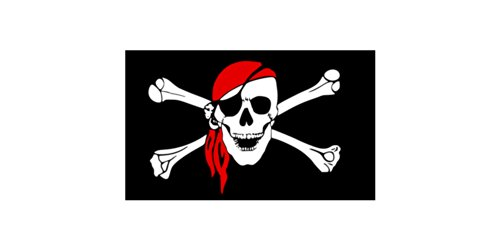 5ft X 3ft Pirate Skull flag with Bandana from Pirates