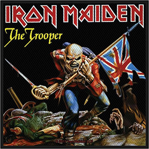 Iron Maiden The Trooper Official Patch (10cm x 10cm) from Klicnow
